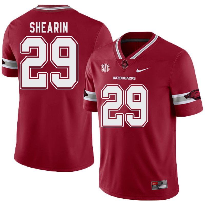 Men #29 Asa Shearin Arkansas Razorbacks College Football Alternate Jerseys-Cardinal