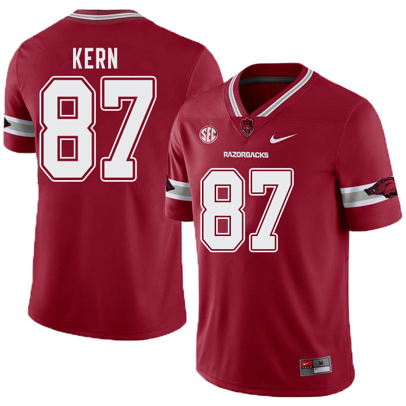 Men #87 Blake Kern Arkansas Razorbacks College Football Alternate Jerseys-Cardinal