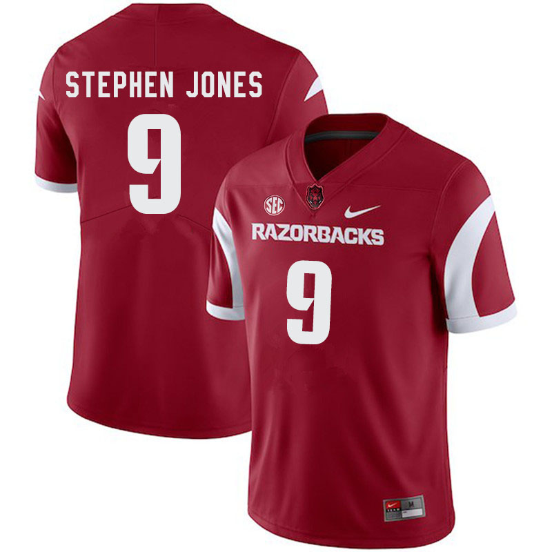 Men #9 John Stephen Jones Arkansas Razorbacks College Football Jerseys-Cardinal