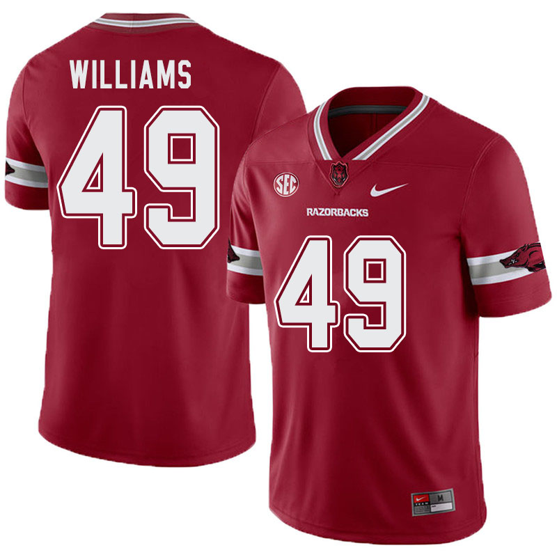 Men #49 McKinley Williams Arkansas Razorbacks College Football Alternate Jerseys-Cardinal