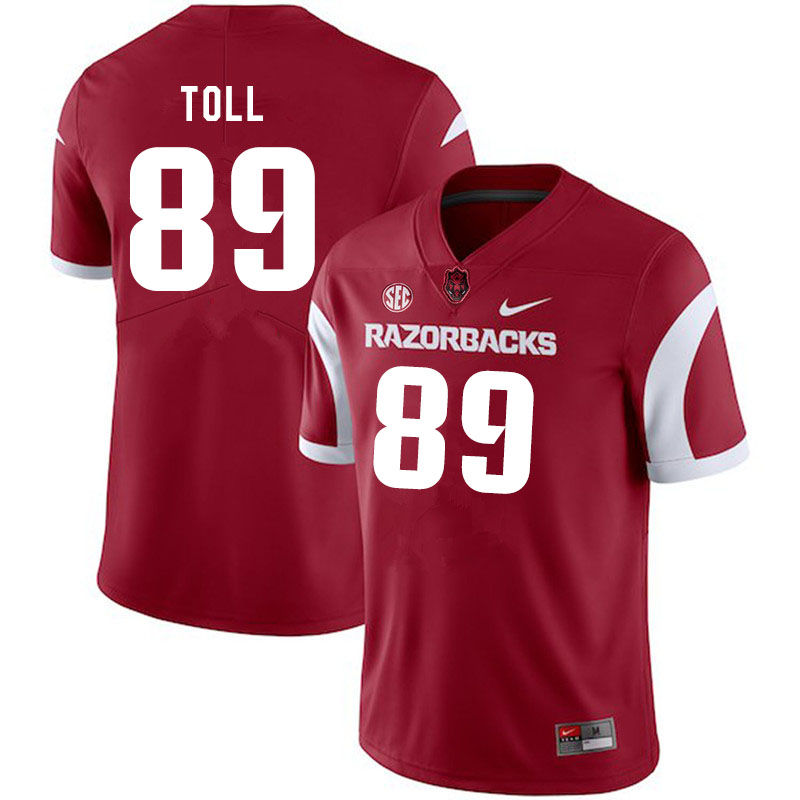 Men #89 Blayne Toll Arkansas Razorbacks College Football Jerseys Sale-Cardinal