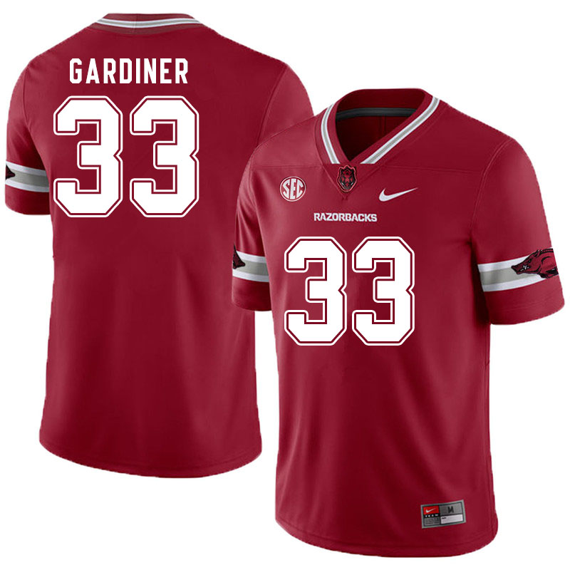 Men #33 Karch Gardiner Arkansas Razorbacks College Football Jerseys Sale-Alternate Cardinal
