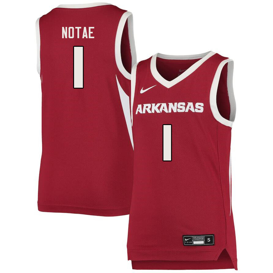 Men #1 JD Notae Arkansas Razorbacks College Basketball Jerseys Sale-Cardinal