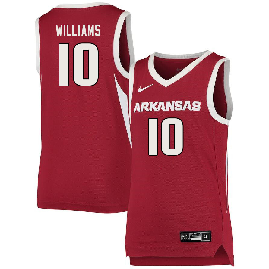 Men #10 Jaylin Williams Arkansas Razorbacks College Basketball Jerseys Sale-Cardinal