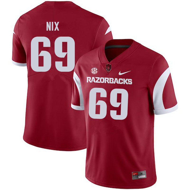 Men #69 Austin Nix Arkansas Razorbacks College Football Jerseys Sale-Cardinal