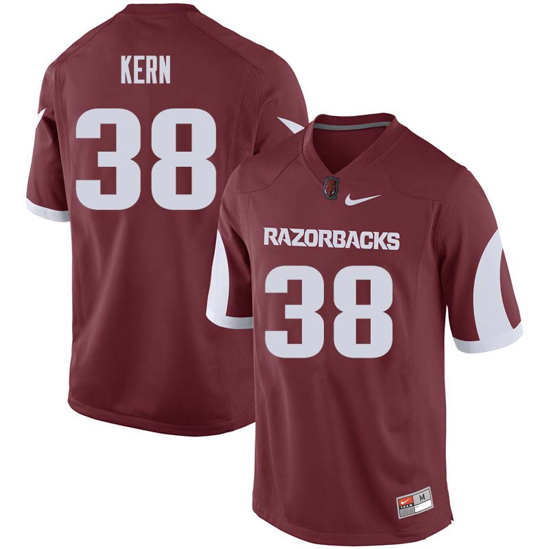 Men #38 Blake Kern Arkansas Razorback College Football Jerseys Sale-Cardinal