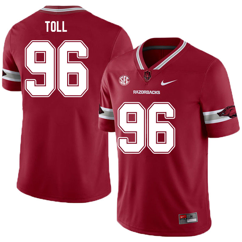 Men #96 Blayne Toll Arkansas Razorbacks College Football Jerseys Sale-Alternate