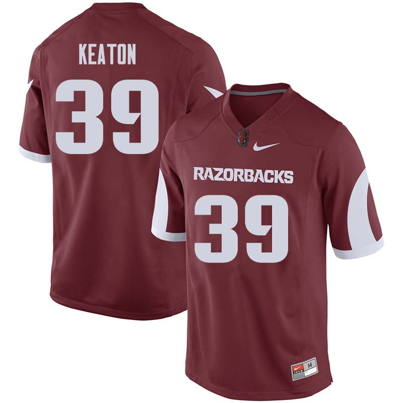 Men #39 Byron Keaton Arkansas Razorback College Football Jerseys Sale-Cardinal