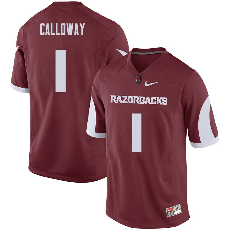 Men #1 Chevin Calloway Arkansas Razorback College Football Jerseys Sale-Cardinal
