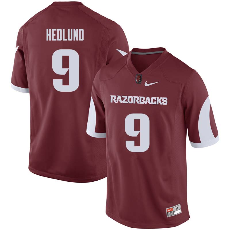 Men #9 Cole Hedlund Arkansas Razorback College Football Jerseys Sale-Cardinal