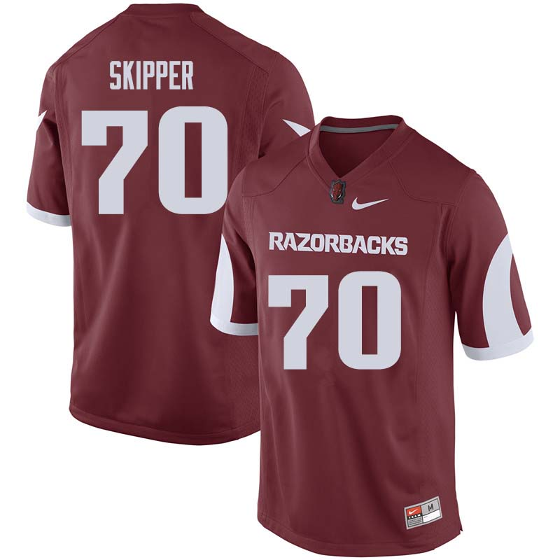 Men #70 Dan Skipper Arkansas Razorback College Football Jerseys Sale-Cardinal