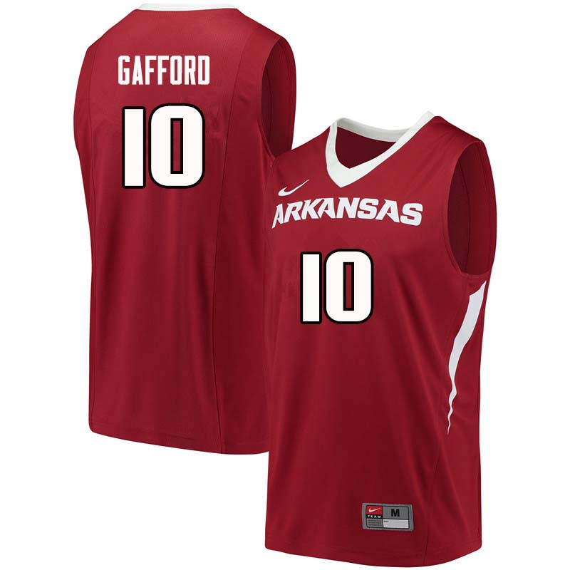 Men #10 Daniel Gafford Arkansas Razorback College Basketball Jerseys Sale-Cardinal
