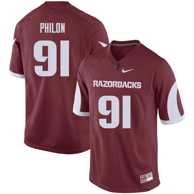 online retailer 9d47c 9b98b Darius Philon Jersey : Arkansas Razorbacks College Football ...
