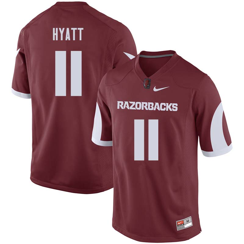 Men #11 Daulton Hyatt Arkansas Razorback College Football Jerseys Sale-Cardinal