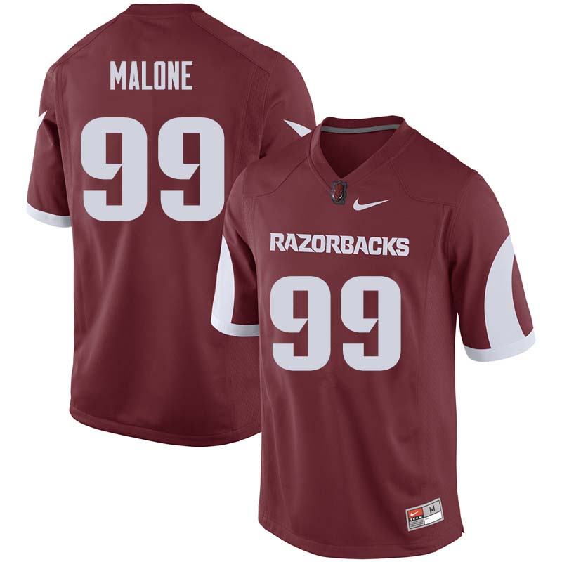 Men #99 Deion Malone Arkansas Razorback College Football Jerseys Sale-Cardinal