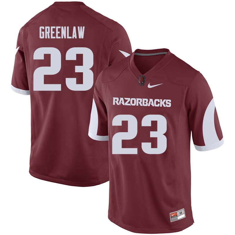 Men #23 Dre Greenlaw Arkansas Razorback College Football Jerseys Sale-Cardinal