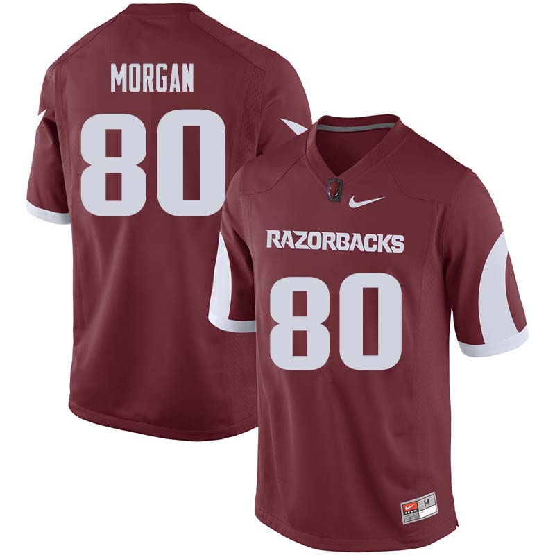 Men #80 Drew Morgan Arkansas Razorback College Football Jerseys Sale-Cardinal
