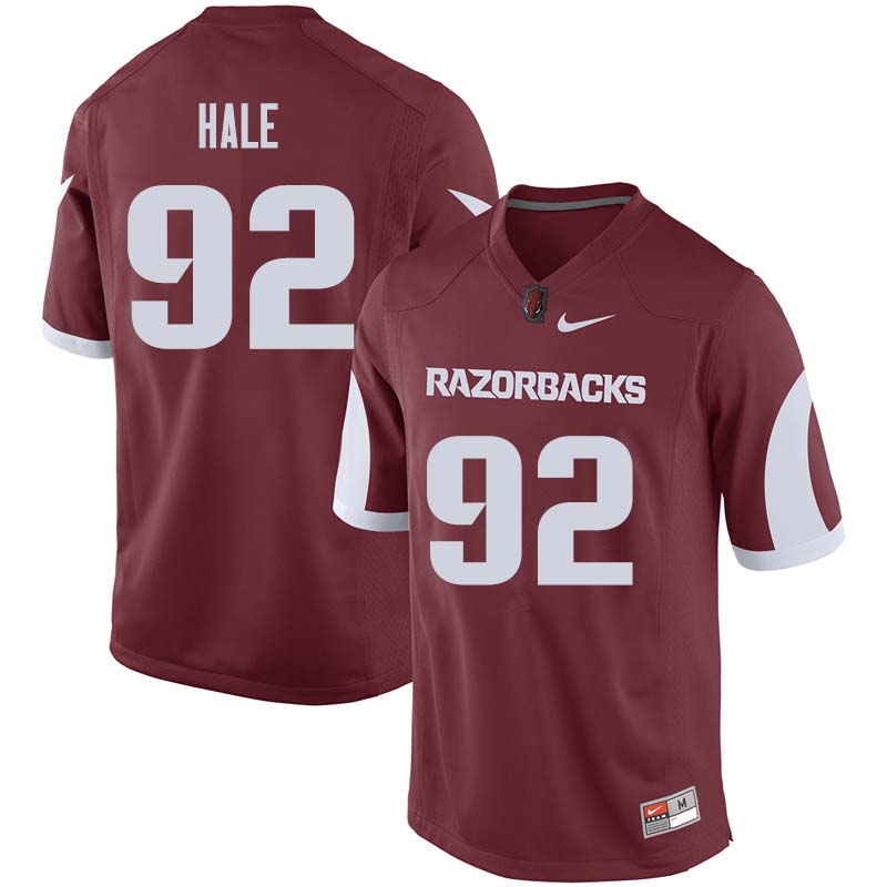 Men #92 Elias Hale Arkansas Razorback College Football Jerseys Sale-Cardinal