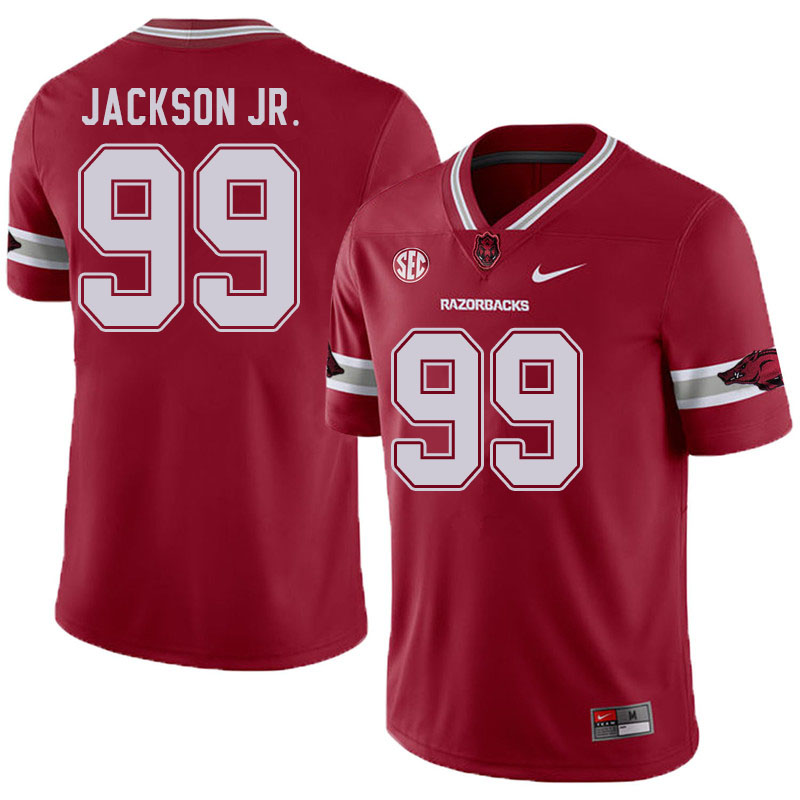 Men #99 Enoch Jackson Jr. Arkansas Razorbacks College Football Jerseys Sale-Alternate