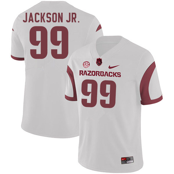 Men #99 Enoch Jackson Jr. Arkansas Razorbacks College Football Jerseys Sale-White