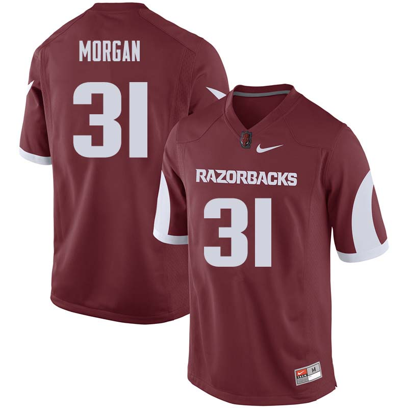 Men #31 Grant Morgan Arkansas Razorback College Football Jerseys Sale-Cardinal