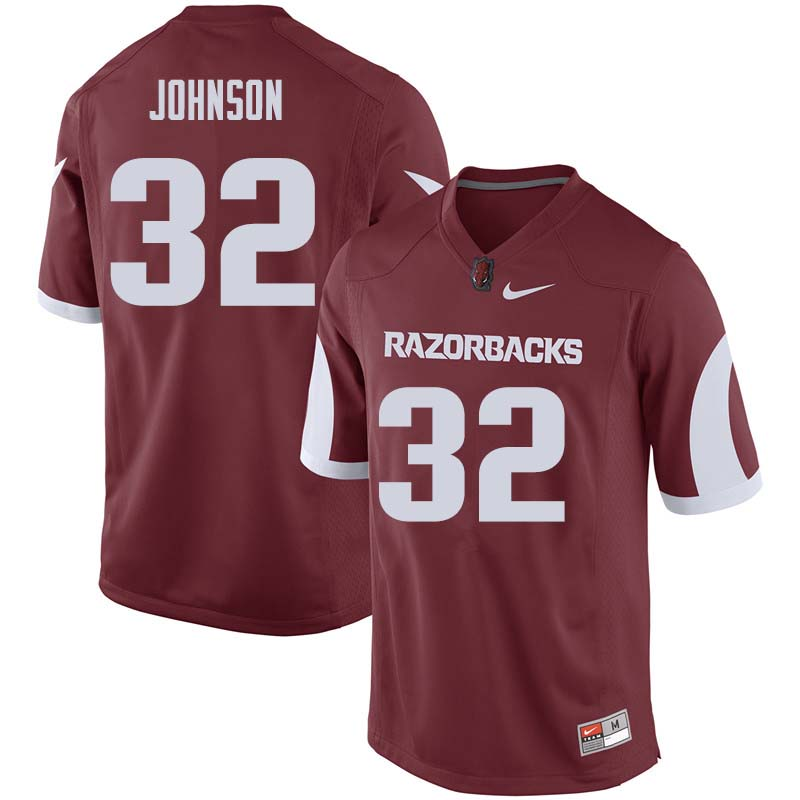 Men #32 Hayden Johnson Arkansas Razorback College Football Jerseys Sale-Cardinal