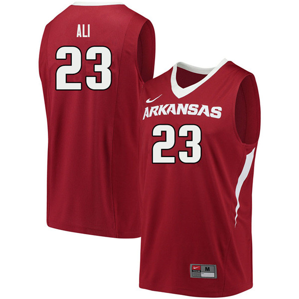 Men #23 Ibrahim Ali Arkansas Razorbacks College Basketball Jerseys Sale-Cardinal