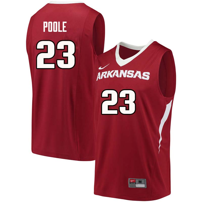 Men #23 Ike Poole Arkansas Razorback College Basketball Jerseys Sale-Cardinal