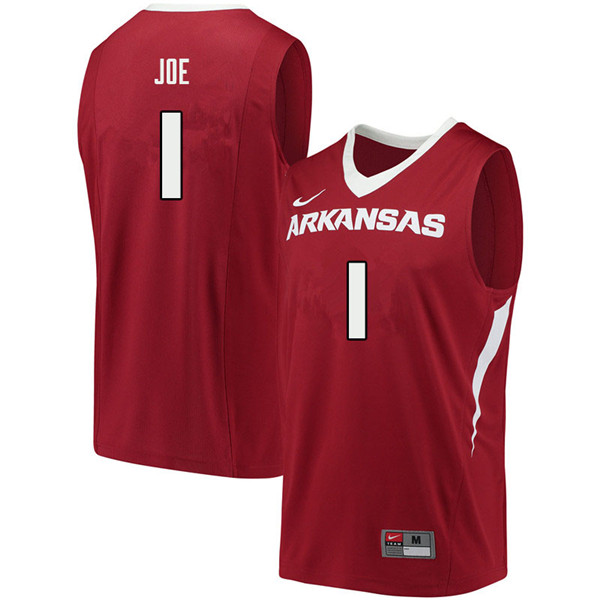 Men #1 Isaiah Joe Arkansas Razorbacks College Basketball Jerseys Sale-Cardinal