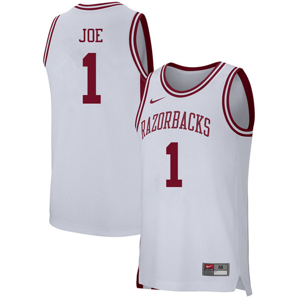 Men #1 Isaiah Joe Arkansas Razorbacks College Basketball 39:39Jerseys Sale-White