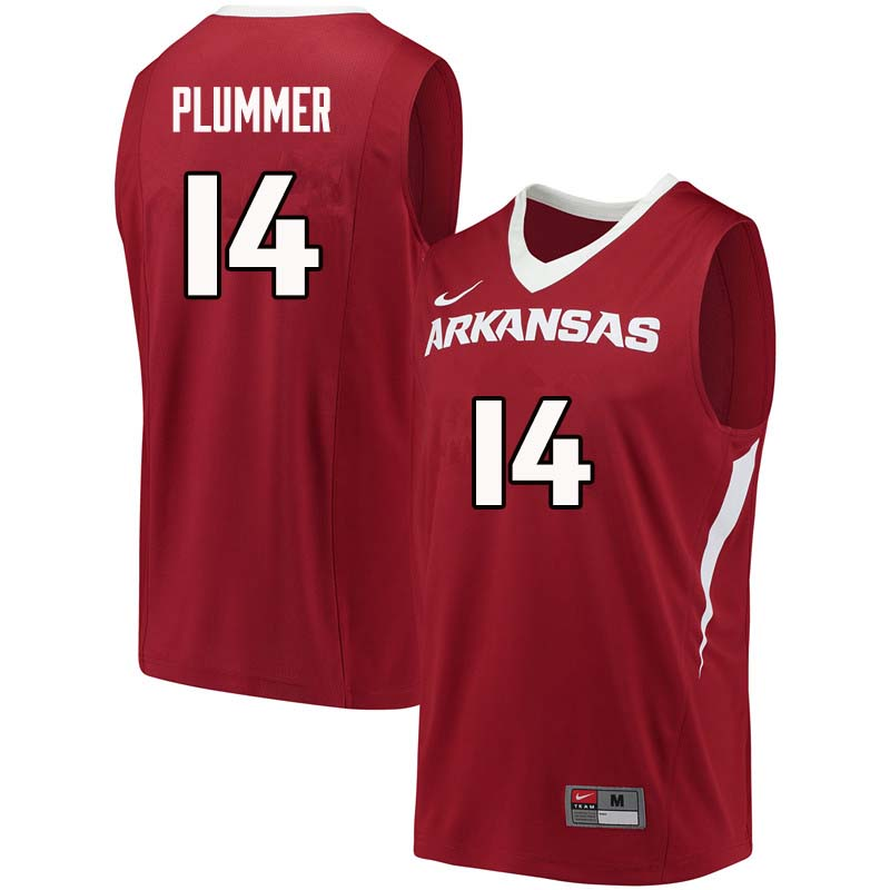 Men #14 JT Plummer Arkansas Razorback College Basketball Jerseys Sale-Cardinal