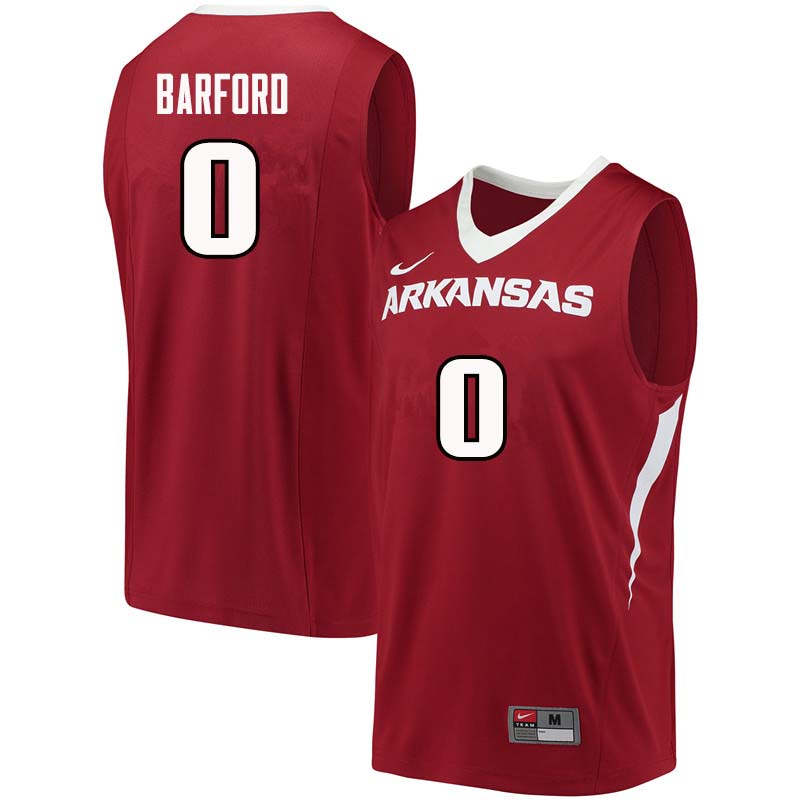 Men #0 Jaylen Barford Arkansas Razorback College Basketball Jerseys Sale-Cardinal