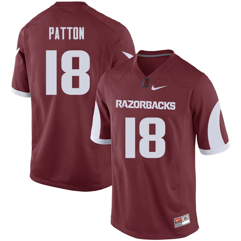 Men #18 Jeremy Patton Arkansas Razorback College Football Jerseys Sale-Cardinal