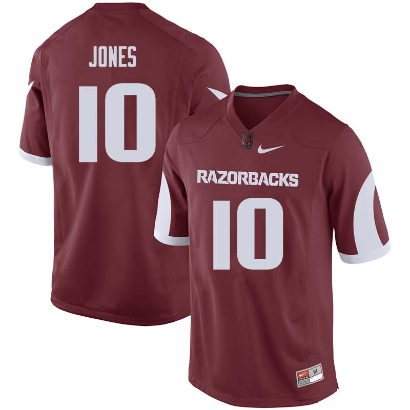 Men #10 Jordan Jones Arkansas Razorback College Football Jerseys Sale-Cardinal