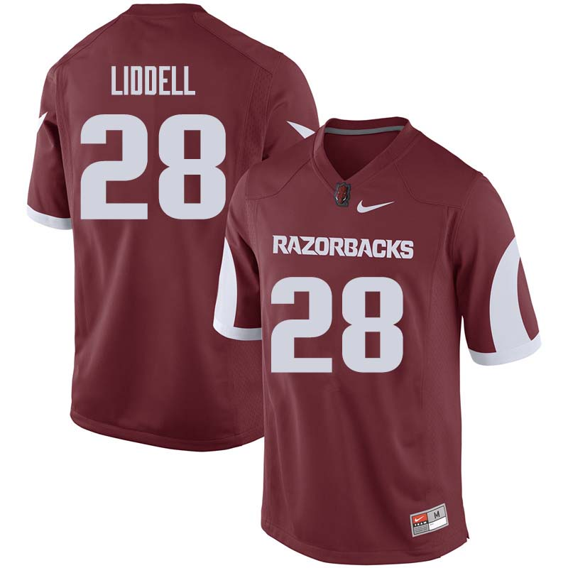 Men #28 Josh Liddell Arkansas Razorback College Football Jerseys Sale-Cardinal