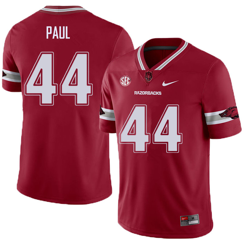 Men #44 Josh Paul Arkansas Razorback College Football Alternate Jerseys Sale-Cardinal