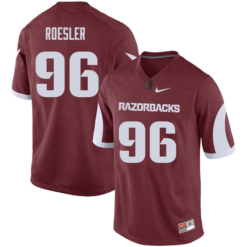 Men #96 Karl Roesler Arkansas Razorback College Football Jerseys Sale-Cardinal