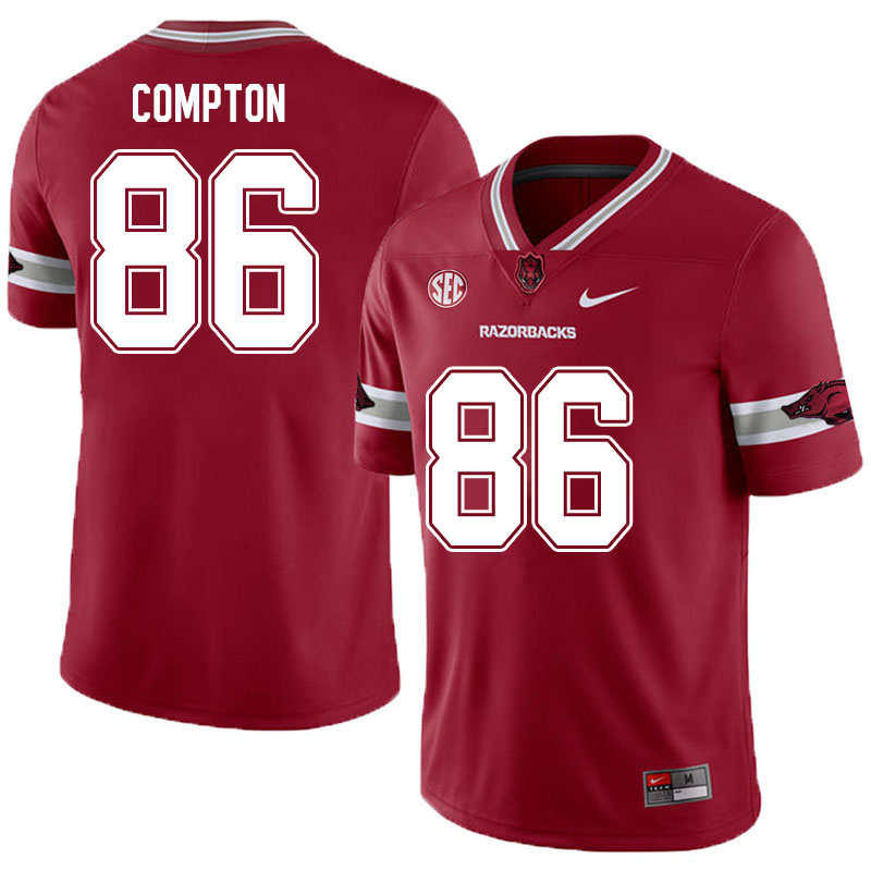 Men #86 Kevin Compton Arkansas Razorbacks College Football Jerseys Sale-Alternate