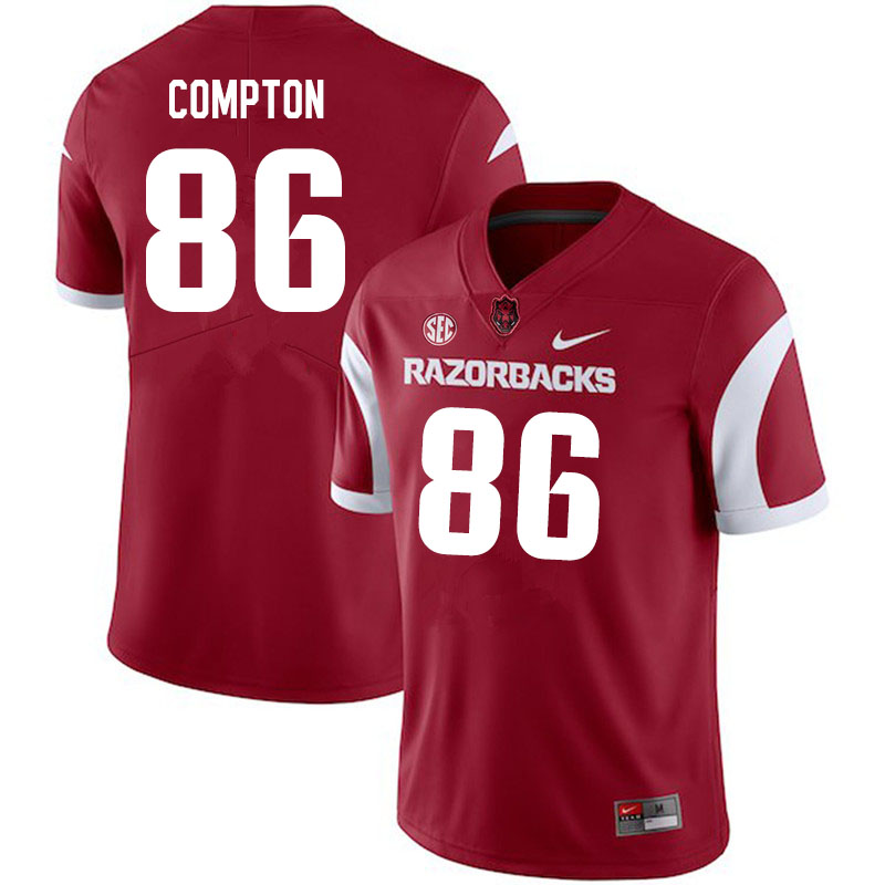 Men #86 Kevin Compton Arkansas Razorbacks College Football Jerseys Sale-Cardinal