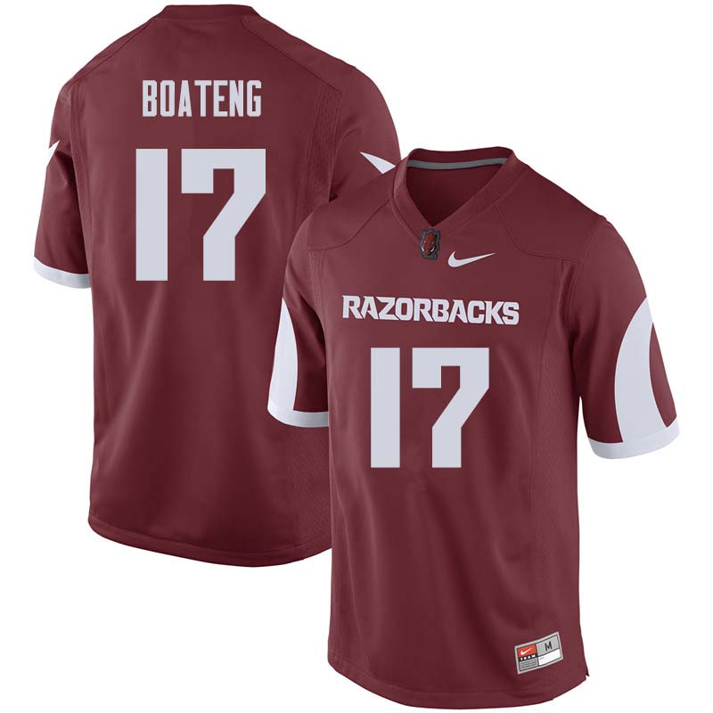 Men #17 Kofi Boateng Arkansas Razorback College Football Jerseys Sale-Cardinal