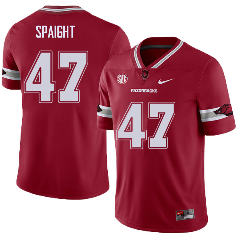 Men #47 Martrell Spaight Arkansas Razorback College Football Alternate Jerseys Sale-Cardinal