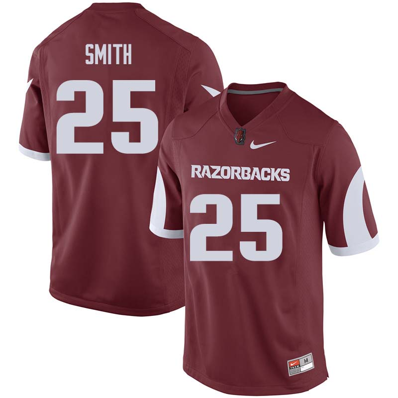 Men #25 Micahh Smith Arkansas Razorback College Football Jerseys Sale-Cardinal