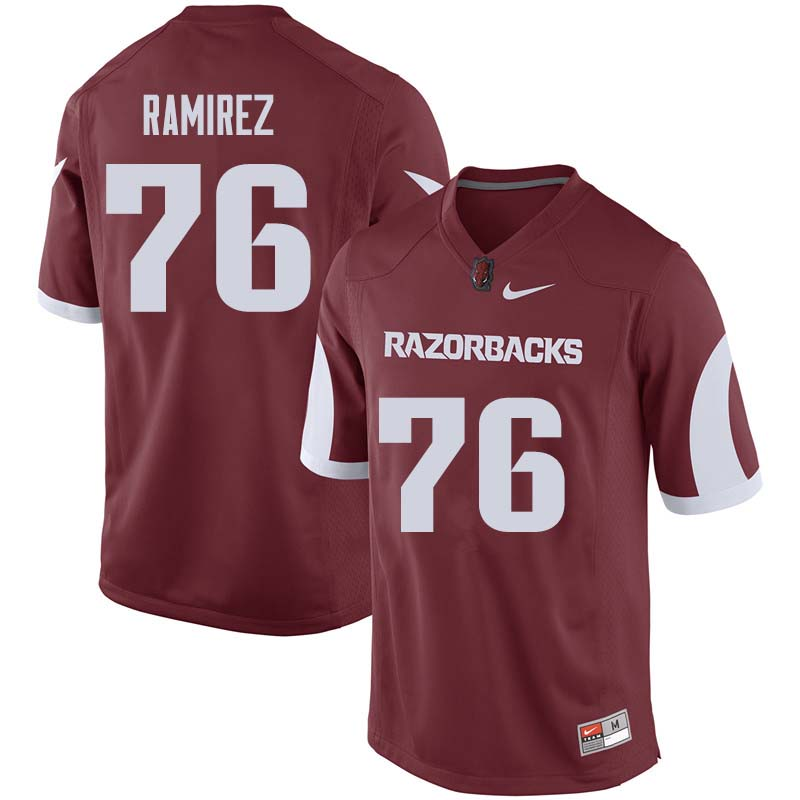Men #76 Paul Ramirez Arkansas Razorback College Football Jerseys Sale-Cardinal