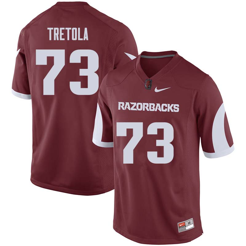 Men #73 Sebastian Tretola Arkansas Razorback College Football Jerseys Sale-Cardinal