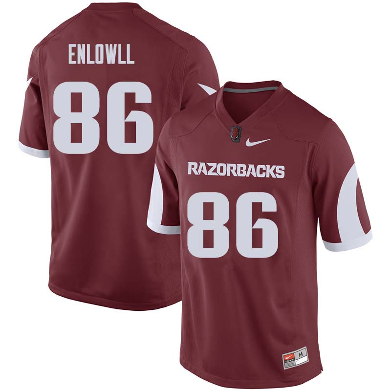 Men #86 Tobias Enlow Arkansas Razorback College Football Jerseys Sale-Cardinal