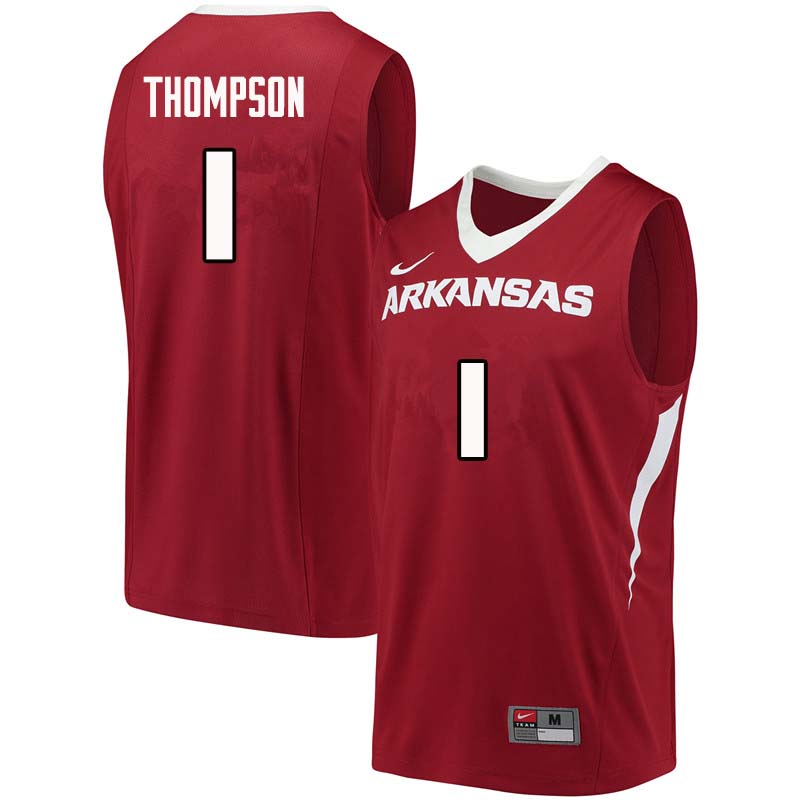 Men #1 Trey Thompson Arkansas Razorback College Basketball Jerseys Sale-Cardinal