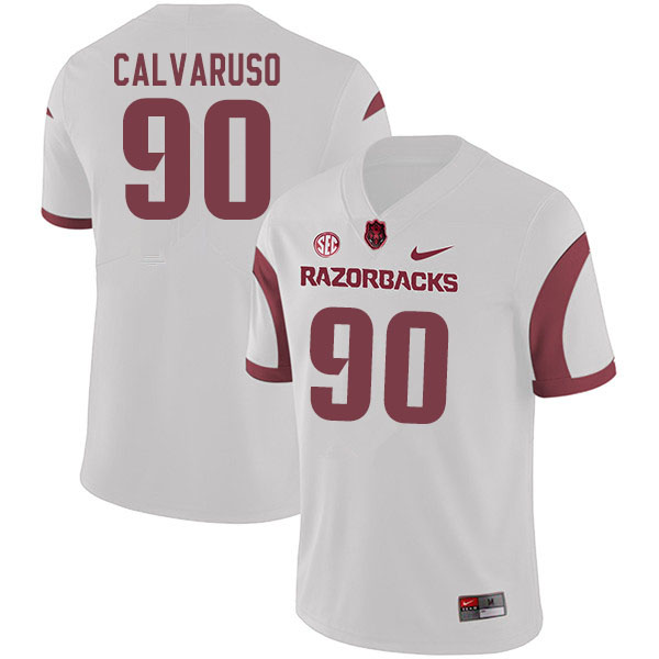 Men #90 Vito Calvaruso Arkansas Razorbacks College Football Jerseys Sale-White
