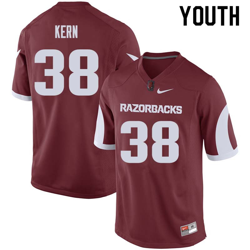 Youth #38 Blake Kern Arkansas Razorback College Football Jerseys Sale-Cardinal