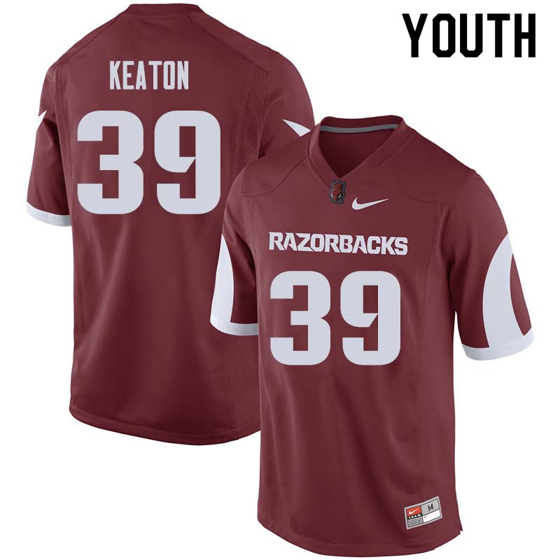 Youth #39 Byron Keaton Arkansas Razorback College Football Jerseys Sale-Cardinal