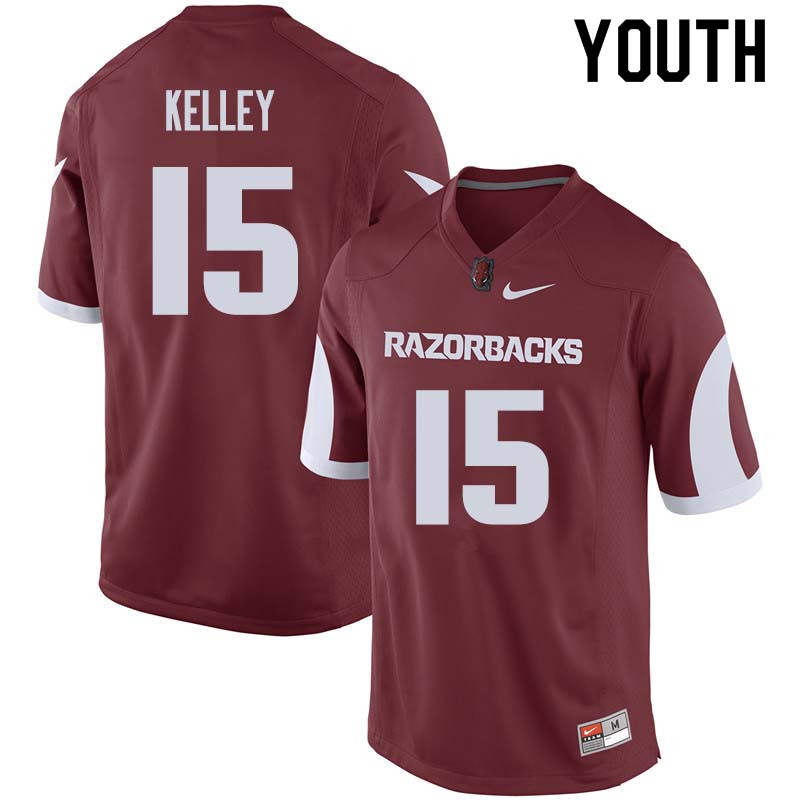 Youth #15 Cole Kelley Arkansas Razorback College Football Jerseys Sale-Cardinal
